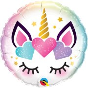 18 inch Unicorn Eyelashes Foil Balloon (1)
