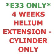 E33 ONLY - 4 Weeks Helium Hire Extension - Cylinder Only
