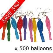 Mixed Plain Punchball Balloon Pack - 10 Packs of 50