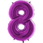 40 inch Purple Number 8 Foil Balloon (1)