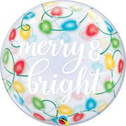 22 inch Merry & Bright Lights Bubble Balloon (1)