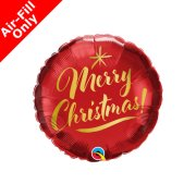 9 inch Merry Christmas Gold Script Foil Balloon (1) - UNPACKAGED
