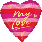 18 inch My Love Striped Foil Balloon (1)
