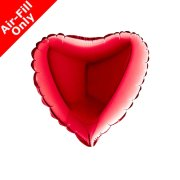 "9"" Red Heart Foil Balloon (1) - UNPACKAGED"