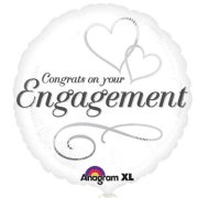 18 inch Two Hearts Engagement Foil Balloon (1)