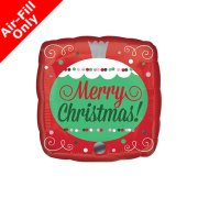 9 inch Merry Christmas Ornament Foil Balloon (1) - UNPACKAGED