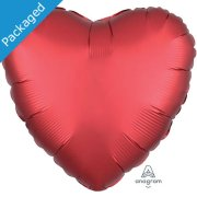 "18"" Sangria Satin Heart Foil Balloon (1)"