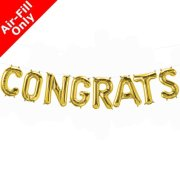 CONGRATS - 16 inch Gold Foil Letter Balloon Kit (1)