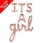 IT'S A GIRL - 16 inch Rose Gold Foil Letters & Script Pack (1)