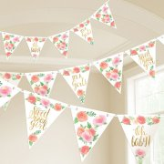 Floral Baby Pennant Banner - 4.57m (1)
