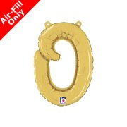 Air-Fill Gold Script Letter O Foil Balloon (1)