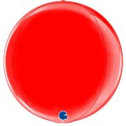 "15"" Globe Red Foil Balloon (1) - UNPACKAGED"