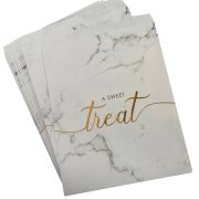 Scripted Marble Paper Treat Bags (25)
