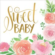 Floral Baby Paper Napkins (16)