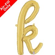 Air-Fill Gold Script Letter K Foil Balloon (1)