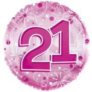 24 inch Pink Age 21 Clearview Balloon (1)