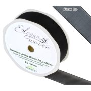Black Woven Edge Ribbon - 25mm x 20m (1)