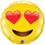 28 inch Smiley Face with Heart Eyes Foil Balloon (1)