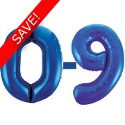 34 inch Unique Blue Numbers Starter Kit - 36 Balloons