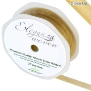 Gold Woven Edge Ribbon - 10mm x 20m (1)