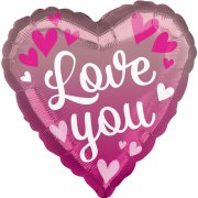 18 inch Love You Pink Ombre Foil Balloon (1)