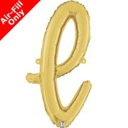 Air-Fill Gold Script Letter L Foil Balloon (1)