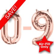 16 inch Rose Gold Numbers Starter Kit - 36 Balloons