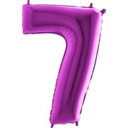 40 inch Purple Number 7 Foil Balloon (1)