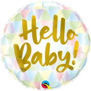 18 inch Hello Baby! Geometric Foil Balloon (1)