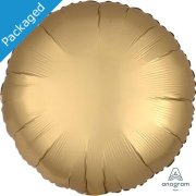 "18"" Gold Sateen Satin Round Foil Balloon (1)"
