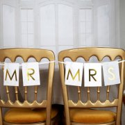 Scripted Marble Mr & Mrs Chair Bunting (1)