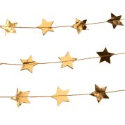 Christmas Gold Star Paper Garland - 3m (1)