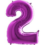 40 inch Purple Number 2 Foil Balloon (1)
