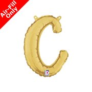 Air-Fill Gold Script Letter C Foil Balloon (1)