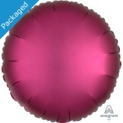 "18"" Pomegranate Satin Round Foil Balloon (1)"