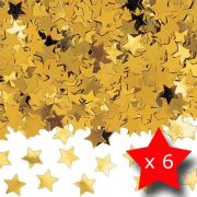Pack of 6 Stardust Gold Metallic Confetti