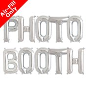 PHOTO BOOTH - 16 inch Silver Foil Letter Balloon Pack (1)