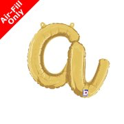 Air-Fill Gold Script Letter A Foil Balloon (1)