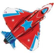 38 inch Red StarFighter Foil Balloon (1)