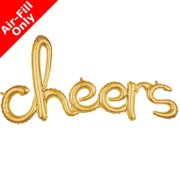 40 inch Cheers Gold Freestyle Phrase Balloon (1)