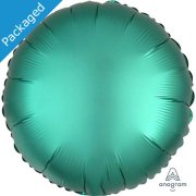 "18"" Jade Green Satin Round Foil Balloon (1)"