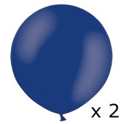 2ft Night Blue Latex Balloons (2)