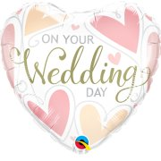 18 inch On Your Wedding Day Hearts Foil Balloon (1)