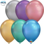 "11"" Chrome Assortment Latex Balloons (100)"