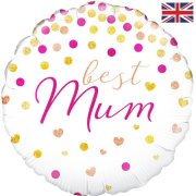 18 inch Best Mum Holographic Foil Balloon (1)