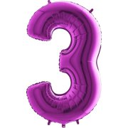 40 inch Purple Number 3 Foil Balloon (1)