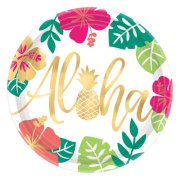 Aloha Foil Stamped Paper Plates (8)