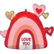 26 inch Love You Rainbow Supershape Foil Balloon (1)