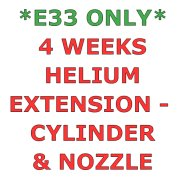 E33 ONLY - 4 Weeks Helium Hire Extension - Cylinder & Nozzle