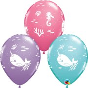 11 inch Fun Under the Sea Assorted Latex Balloons (25)